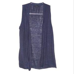 Theory Apollonia Glint Double Layer Draped Vest